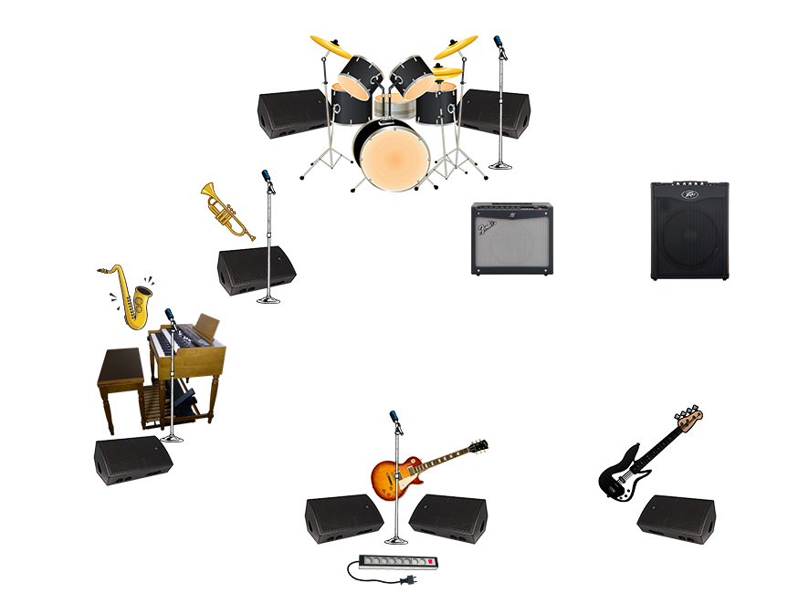 Stage plot clipart